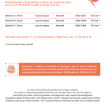 inter-activités paris centre sport : CAPOEIRA Tracts rentrée 2015