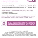 inter-activités paris centre sport : PILATES Tracts rentrée 2015