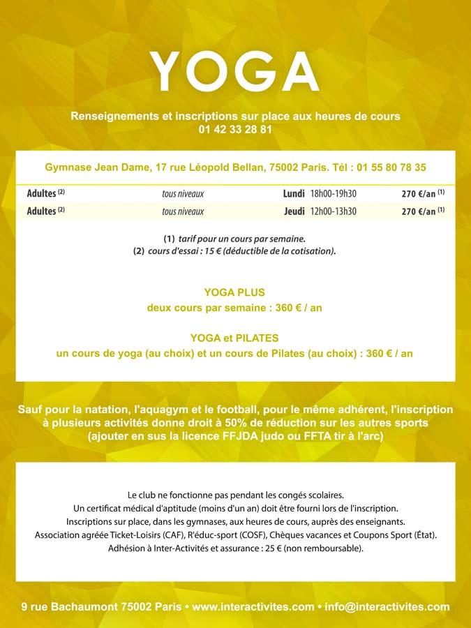 Yoga A Paris 2e Inter Activites